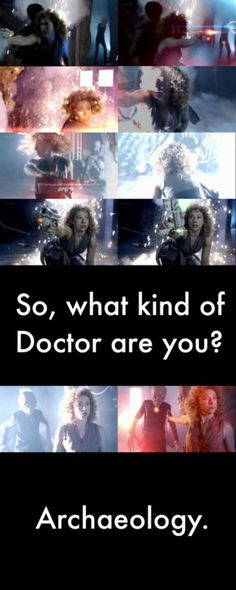 River Song.I love that woman. I can't see why people don't like her with the Doctor. She's the ultimate badass and besides the Doctor she's my favorite character in all the series :)