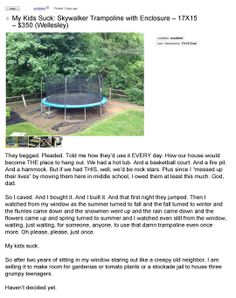 Funny pictures about One Of Many Reasons Kids Suck. Oh, and cool pics about One Of Many Reasons Kids Suck. Also, One Of Many Reasons Kids Suck photos. Funny Kids, The Funny, Backyard Trampoline, Everything Funny, Funny People, Funny Things, Funny Stories, Funny Photos, I Laughed