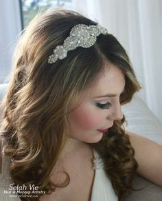 The Lucie Rhinestone Hair Band Selah Vie Hair and Makeup Artistry has recently opened our online shop selling a wide variety of Bridal Ribbon Hairbands, Bridal Headbands & Rhinstone Hair Combs. Selah Vie also offers the option to CUSTOM ORDER a hair piece or belt that best suits you! Prices vary and are available to buy online at www.selahvie.ca #Hair #Bridal #photoshoot #BridalHair #BridalBling #HairBling #Rhinestones #Haircombs #Bling #Pictureperfect #Beauty #LoveYourself #londonON #ldnont