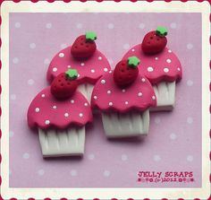 Cupcakes mit Erdbeere