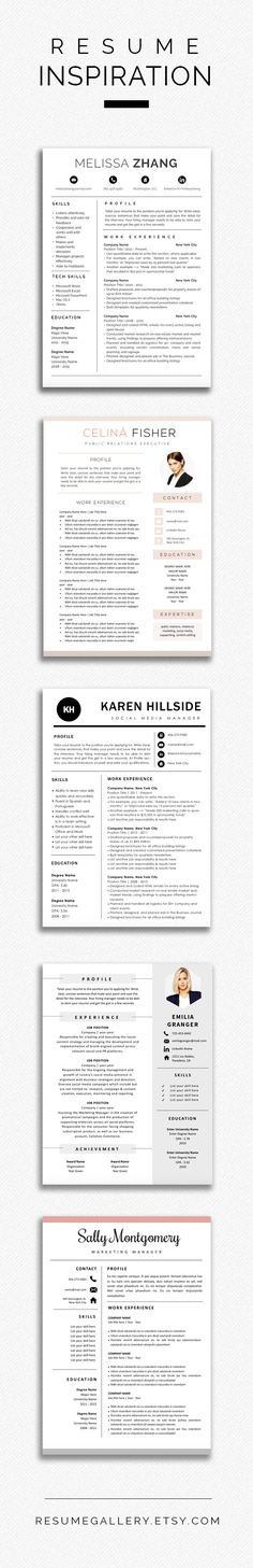 Resume Template - CV Template - Free Cover Letter - MS Word on Mac - mac pages resume templates