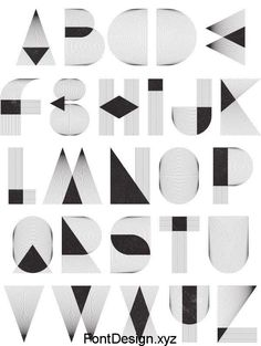 Alphabet shapes made by Patrick Seymour Alphabet A, Alphabet Design, Typography Served, Typography Letters, Retro Typography, Graphisches Design, Logo Design, Alfabeto Tattoo, Lettering Design