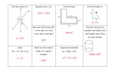 GCSE Non Calculator Revision Mats: Higher and Foundation Gcse Revision, Student Work, Grade 1, Calculator, Mathematics, Read More, Teaching Resources, Foundation, Math