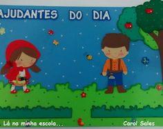 Painel Ajudantes do dia Chapeuzinho Verm