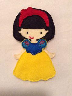 Snow White felt dress up doll on Etsy, $12.00