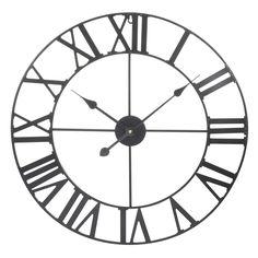 MÉCANO metal clock, black, D 60 cm