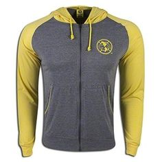 Club America Home Full-Zip Hoodie:   iframe frameborder=0 width=790 height=460 style=margin-left: -25px; allowfullscreen= src=http://www.youtube.com/embed/oNF4jbHvzDM  Represent your favorite Liga MX club in style. Full-zip hoodie with Club America team badge. Cotton.