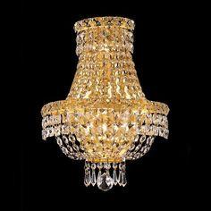 Elegant Lighting 2528W12 3 Light Tranquil Crystal Wall Sconce