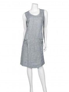 Damen Kleid aus Leinen, grau                                                                                                                                                      Mehr