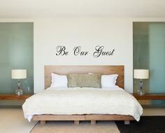 Be Our Guest Wall Decal Bedroom Wall Vinyl by PacificBeachBoutique, $21.00