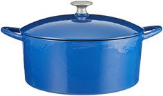 Mario Batali 826798 Enameled Cast Iron Round Dutch Oven 6Quart Cobalt >>> More info could be found at the image url. (This is an affiliate link and I receive a commission for the sales)