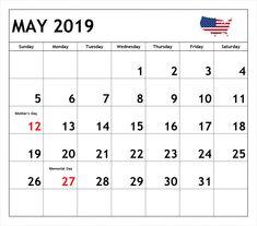 May 2019 Printable Calendar May May2019 May2019calendar