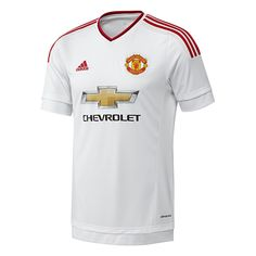 ec752b90e Adidas Manchester United Away  15- 16 Soccer Jersey (White Real Red)