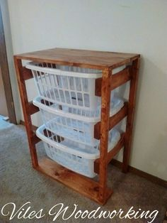 Laundry basket holder, laundry basket, laundry room, laundry room basket, clothes holder, laundry hamper by VilesWoodworking on Etsy https://www.etsy.com/listing/242905027/laundry-basket-holder-laundry-basket