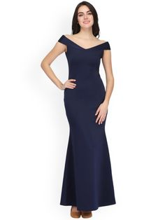 Buy Eavan Women Navy Blue Solid Maxi Dress - Dresses for Women from Eavan at Rs. Style ID: 2284938 Blue Dresses, Formal Dresses, Best Online Fashion Stores, Jumpsuit Dress, Dress Outfits, Party Dress, Navy Blue, Stuff To Buy, Clothes