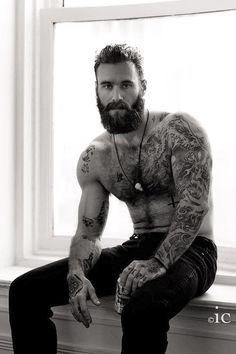 Imagem de tattoo and men