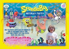 Spongebob+Invitation++Printable+SPONGEBOB+by+therandompanda,+$19.00