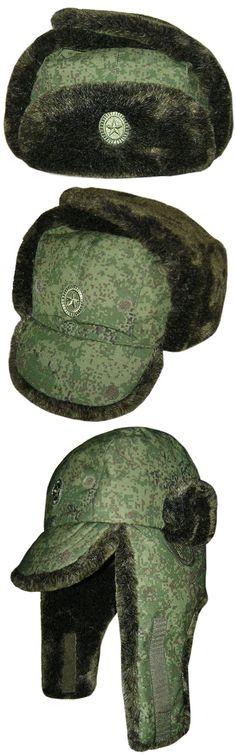 Russian Officers digital modern Ushanka winter hat 2015 Tactical Clothing 5bd3b296f3d