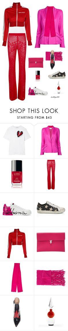 """Feel good"" by katelyn999 ❤ liked on Polyvore featuring Oscar de la Renta, Thierry Mugler, Chanel, La Perla, Dolce&Gabbana, Palm Angels, Alexander McQueen, Hermès, Helmut Lang and Agonist"