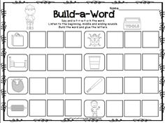 FREEBIE!  CVC Build-a-Word Cut and Paste. This blog has lots of ideas for daily 5 and common core writing