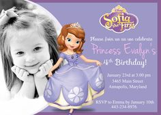 Sofia the first birthday invitation princess birthday sofia the first birthday invitation princess birthday invitations announcements cards pinterest birthdays princess birthday and sofia party stopboris Image collections