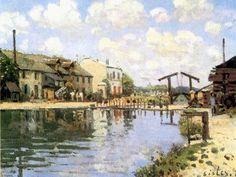 Le canal Saint-Martin en 1900 - le quai de Loire par À. Sisley.