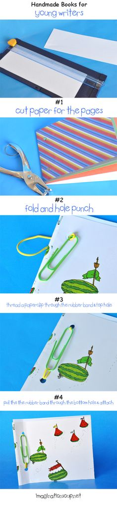 Easy DIY handmade books - great to pre-make for writing at home.