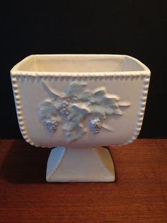Vintage McCoy Planter Grape Design Ivory Pottery   on Etsy, $16.75