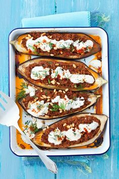 Eggplants filled with minced meat - Eggplant with minced meat filling – smarter – time: 20 minYou can find Meat and more on our website.Eggplants filled with minced meat - . Pecan Recipes, Low Carb Recipes, Healthy Recipes, Healthy Eating Tips, Healthy Nutrition, Vegetable Drinks, Vegetable Recipes, Filling Food, Paleo Dinner
