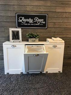 Stand Up Laundry hamper, upright laundry sorter, hold 3 laundry basket - Laundry Hamper Cabinet, Tilt Out Laundry Hamper, Tilt Out Hamper, Laundry Basket Storage, Laundry Cabinets, Laundry Sorter, Storage Baskets, White Laundry Hamper, Bin Storage