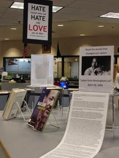 Library Displays: Martin Luther King, Jr. Day--Interactive display
