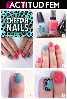 Tutorial: Cheetah Nails #nailart #nailtutorial #nails #manicure #tutorial #diy #esmalte #bellezafem #viernesdemanicure #uñas