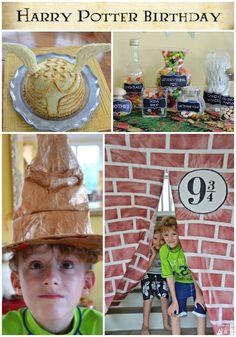 Harry Potter Party Ideas. #harrypotter #birthday