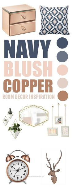 10 Blush Navy Copper Inspirations For Adding More Hygge To Your Cozy Home&; Best Home Decor 10 Blush Navy Copper Inspirations For Adding More Hygge To Your Cozy Home&; Best Home Decor Anna Rupp […] room ideas blush Copper Colour Scheme, Copper Color, Colour Schemes, Colour Palettes, Living Room Color Schemes, Color Combos, Copper Room Decor, Navy And Copper, My New Room