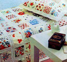 Vintage Crochet Sewing Pattern Patchwork от 2ndlookvintage на Etsy
