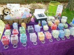 scentsy table display. samples on top of actual bar stock. everydayelle