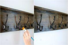 How To Buld Your Own DIY Coat Rack | Lively Green Door
