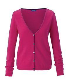 Super, auffälliger Cardigan. Wir lieben diese Farbe. #conleys #pink
