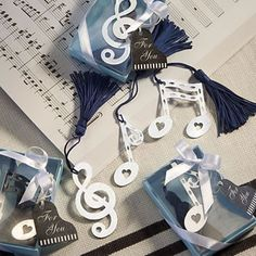 Musical+Note+Bookmark+Favors