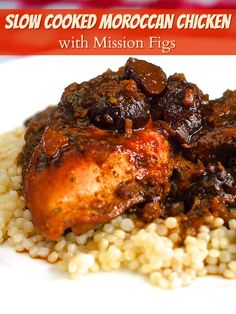 Slow Cooked Moroccan Chicken with Mission Figs - such an amazing mix of flavours in this easy to prepare chicken dish. It's worth preparing just for the heavenly aroma that will fill your kitchen as it cooks.