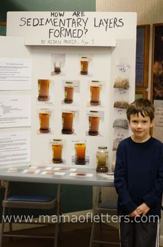 First Science Fair Project - First Grade. How Are Sedimentary Layers Formed?