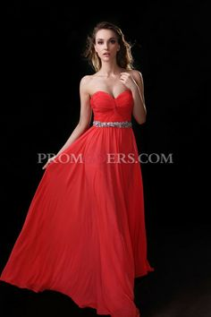 A Line  Sweetheart  Sleeveless  Floor Length  Chiffon  Beading  Ruffles  Zipper Up