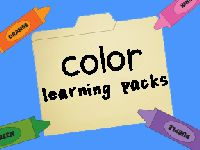 Color Learning Packs from blog, Me & Marie (free) --- used to be on Scribd, but switched over to Google Dos, which is easier to access