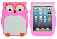 Amazon.com: BYG 3D cute silicon night Owl Animal Design Cartoon Silicone case for iPad Mini 7.9 Pink + Gift 1pcs Phone Radiation Protection Sticker: Cell Phones & Accessories