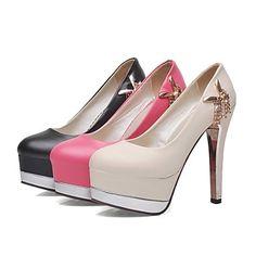 Calçados Femininos-Saltos-Saltos-Salto Agulha-Preto / Vermelho…