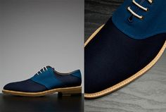 MM SAYS: Men's upscale casual shoes that any guy would rock with confidence. Why? They're a classic style with a tasteful twist. Plus, when it comes to shades of blue, you're almost always playing it safe. A great brand: Band of Outsiders.