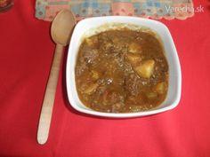 Hovädzí guláš Čovňomajvarechastojí a Pracovná polievka (fotorecept)