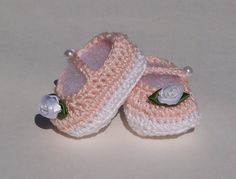 Booties Shoes Crocheted Couture Soft Mary Jane by TheCrochetLady
