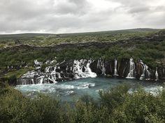 Hraunfossar barnafoss Iceland