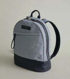 Want Les Essentiels Kastrup Organic Cotton/Leather Navy Check Laptop B – Luxe Fashion Finds Personal Organizer, Just For Men, Leather Keychain, Laptop Backpack, Leather Cover, Perfect Match, Design Trends, Organic Cotton, Backpacks